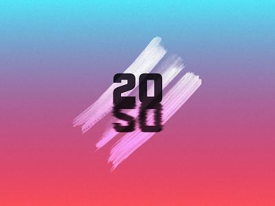 Happy New Year 2020! typography vector icon symbol clean illustration ui sign liquid noise gradient figmadesign procreate affinitydesigner