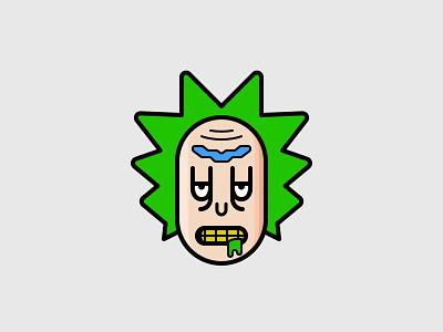 Rick 8px pixel perfect affinity affinitydesigner vector clean sign symbol minimal cartoon icon ricksanchez rickandmorty rick