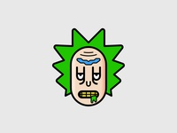 Rick 8px pixel perfect affinity affinitydesigner vector clean sign symbol minimal cartoon icon ricksanchez rickandmorty rick