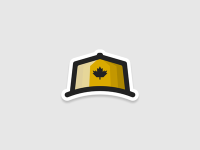 Canada cap sticker shading yellow thick lines shadow pixel perfect affinity designer affinity sticker symbol sign icon cap canada