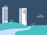 Beach City Illustration