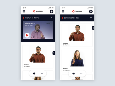 Scripture of the Day accessibility deaf bible product design mobile ux ui