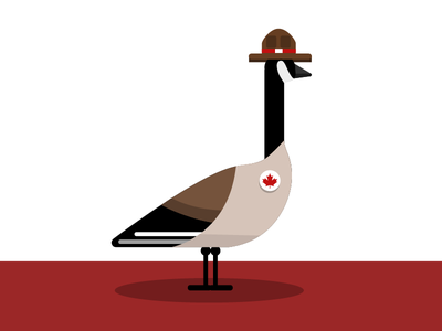 Canadian Goose maple leaf flat goose mountie playoff canadian goose canada