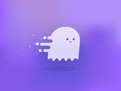 30 Minute Challenge - Ghost cute flat ghost illustration 30 minute challenge 30minutechallenge