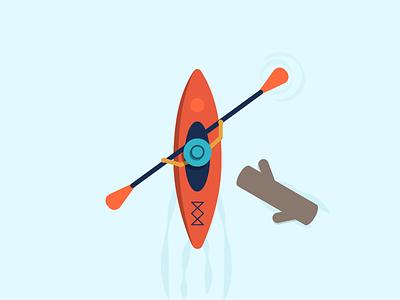 30 Minute Challenge - K for Kayak river k illustration kayak 30 minute challenge 30minutechallenge
