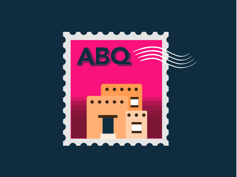 30 Minute Challenge - Fave/Cool City home adobe pueblo postage new mexico abq albuquerque stamp 30 minute challenge 30minutechallenge
