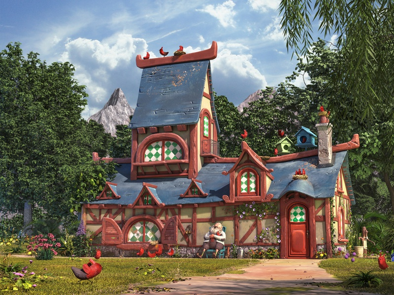 The bird house 3D version vray photoshop stylized chicken woods aftereffects substancepainter zbrush house forest illustration modeling maya 3d cartoon
