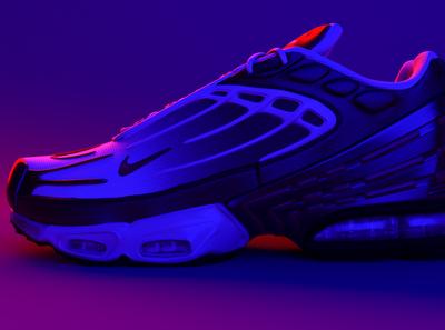 Nike air max plus nike shoes nike running nike air max nike air shoe nike render illustration modeling maya 3d