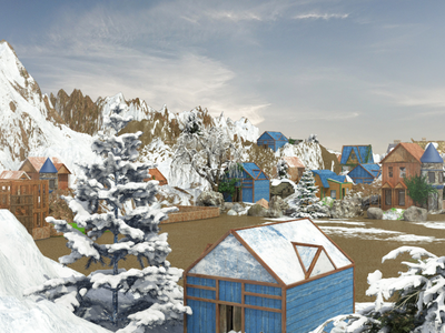 Game background environment model 3d gameart