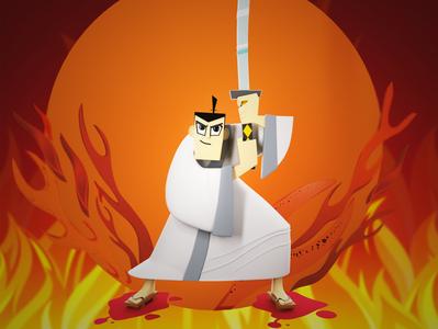 Samurai Jack illustration vector render samurai samurai jack 3d