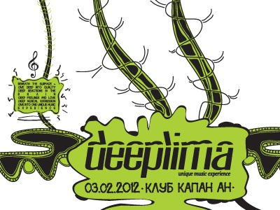Deeplima Poster poster illustration clubbing minimal deep indog ind.o.g deeplima typography