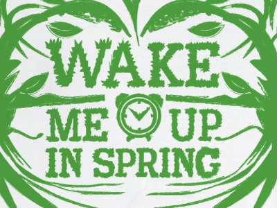 Please do! illustration typography spring clock time