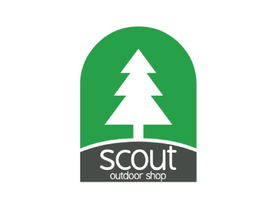 Logo for Scout skopje outdoor shop nature mountain minimal