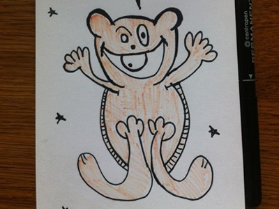 Sketch morning cartoon bear fluffy skopje illustration doodle