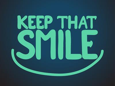 Keep that smile smile typography hand drawn skopje indog goran kostovski ind.o.g