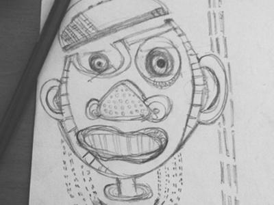 Happy monster sketch doodle happy monster skopje pencil