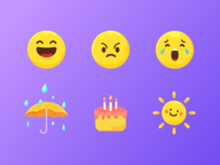 Emoji design for voice assistance