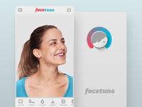 Facetune app screens - retrospective