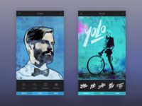 Enlight app screens - retrospective