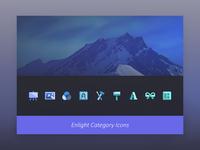 Enlight app - category icons - retrospective