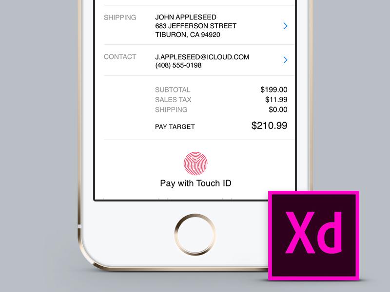 Apple Pay - Adobe XD Template adobe xd free iphone app payment kit ui template pay apple xd adobe adobexd