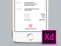 Apple Pay - Adobe XD Template