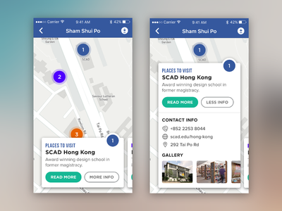 Daily UI #1 - Travel Local App detail gallery kong hong android ios map travel local app ui daily