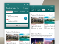 Cathay Pacific Flight App - Concept
