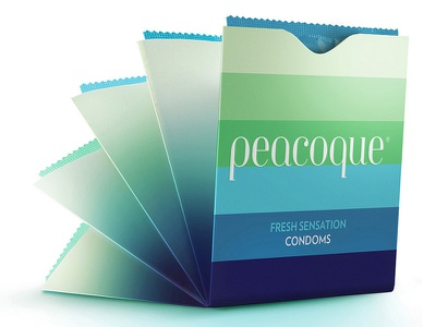 Peacoque - Innovative condom packaging condom packaging innovation peacock colour color