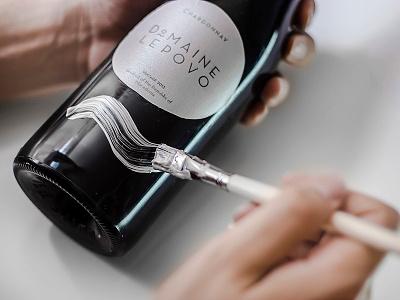 Domaine Lepovo wine premium brush stroke paint