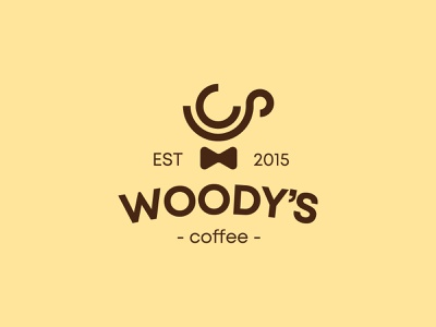 Woody's Cafe - Logo Design identity icon app app icon minimal logo design minimal logo logo inspirations logos design graphic design logo and identity logo identity identity design brand identity branding coffee shop logo coffee logo logo design logo