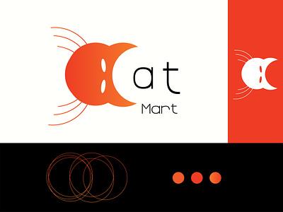 Cat Mart vector branding design graphic design illustration logo