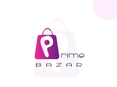 Prime Bazar logo vector branding design graphic design illustration logo