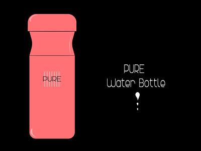 Water Bottle vector design graphic design illustration branding