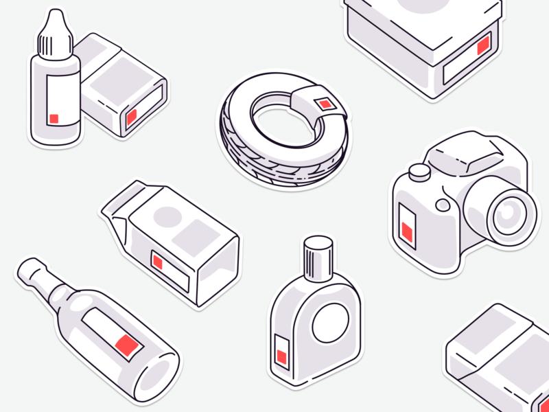 Marking goods illustration
