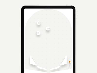 pinball for iPad concept minimal concept game product design pinball ipad animation