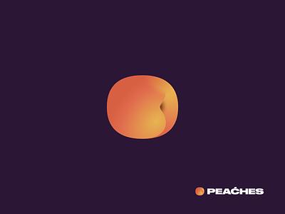 peaćhes logo peaches branding logo illustration