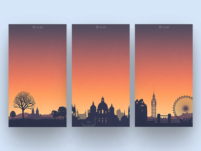 Locations tower eiffel city time sunset sun silhouette venice paris eye london alarm