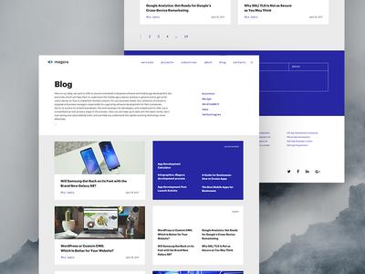 Blog page pr news development design business recommend recent post text blog