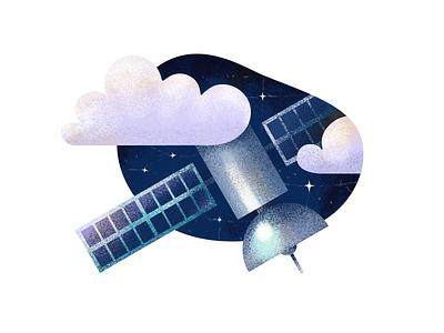 Satellite stars cloud night sky internet satellite