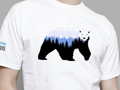 Bear Tshirt t-shirt spruce fir mountains forest minimal mascot bear