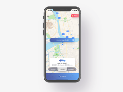 Taxi address pin order locate iphone x car popup map taxi
