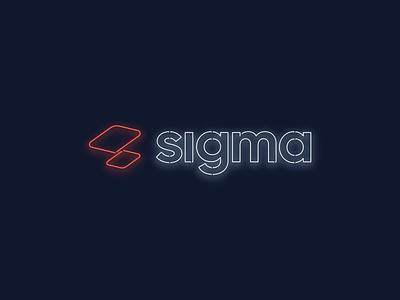 Neon Sigma Logo freebie sketch download animation sign glow sigma logotype logo lights neon