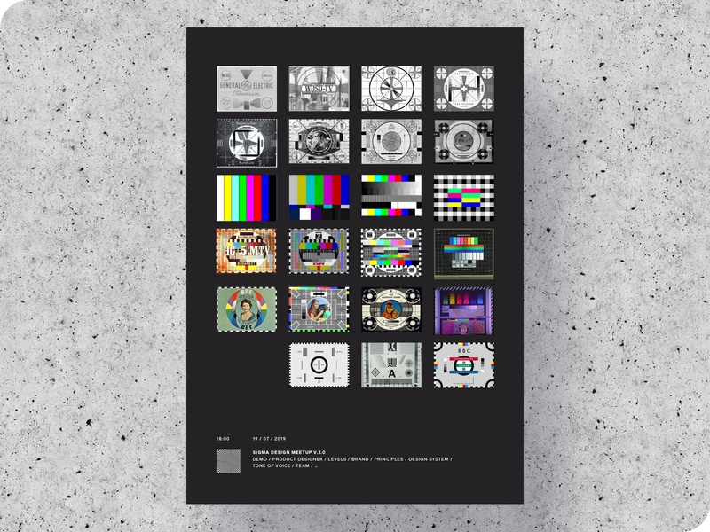Sigma Meetup Poster illustration typography print chronicle black history test card tv meetup placard branding poster