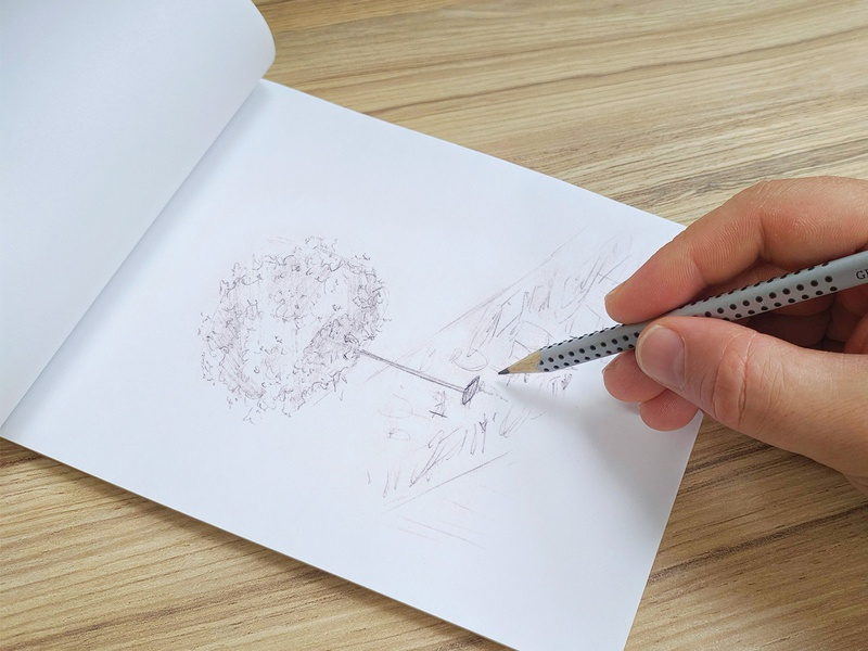 wedding drawings illustration drawing sketching table decoration flowers construction tree wedding pencil sketch