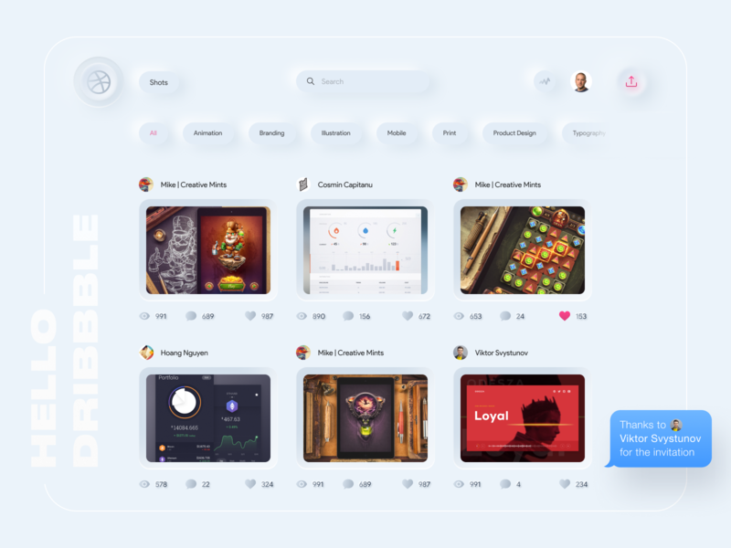 Debut Shot | Redesign Dribbble