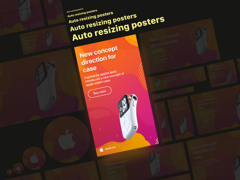 Auto resizing posters | Figma freebies