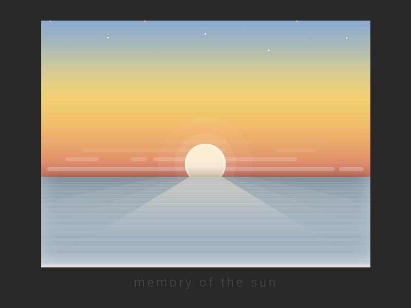 Memory of the Sun sky gradient sunlight illustration sun