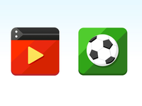 Flat icon about the type upgrade