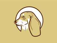Dachshund art character clean illustrator 2d flat vector icon logo design illustration dachshund